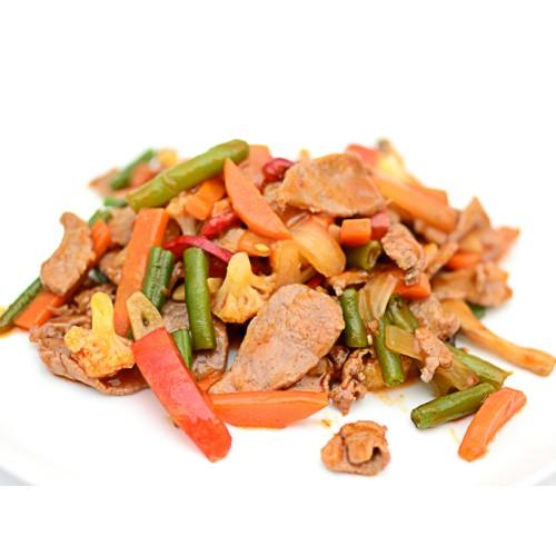 Телятина с овощами в кисло-сладком