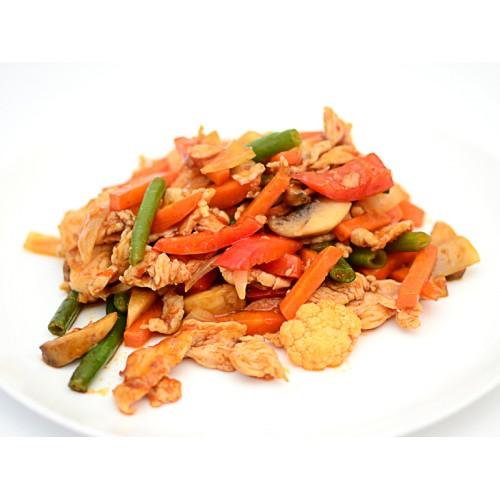 Свинина с овощами в кисло-сладком